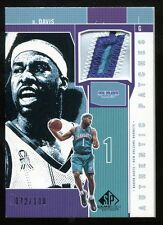 BARON DAVIS 2002-03 SP GAME USED AUTHENTIC PATCHES UCLA HORNETS 4CLR PATCH #/100