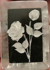 Lucite Vintage Black & White Flower  Pin Brooch 1 1/2""