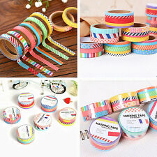 3pcs 5M DIY Paper Sticky Adhesive Sticker Decorative Scrapbooking Washi Tape YK