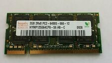 Hynix 2GB 2Rx8 PC2 - 6400S - 666 - 12  For Laptop
