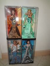 BARBIE LANDMARK COLLECTION EIFFEL TOWER,LIBERTY,SIDNEY OPERA & BIG BEN DOLL