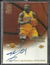 Shaquille O'Neal 2002-03 Topps Team Topps Los Angeles Lakers AUTO AUTOGRAPH