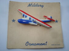 C1930S VINTAGE FLYING BOAT MILITARY ORNAMENT PIN BROOCH ON ORIGINAL CARD