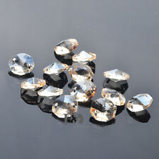 100PCS 14MM Champagne Crystal Octagon Beads Chandelier Lamp Parts Wedding Decor