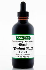4 oz Black Walnut Hull Extract Quality Natural Pure Herbal Tincture Wild Crafted
