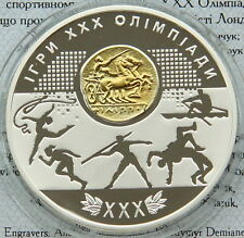 Ukraine 10 UAH 2012 Games of the XXX Olympiad PROOF 1 OZ  Silver Olympic Games
