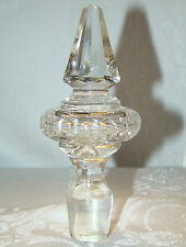 Antique Cut Glass Candelabra Chandelier Finial Wine Stopper