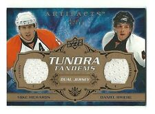 Mike Richards Daniel Briere 2008-09 Artifacts Tundra Tandems Dual Jersey 19/75