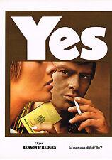 PUBLICITE  1970   BENSON & HEDGES   cigarettes
