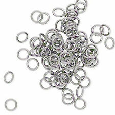 100 Gunmetal Open 8MM Jump Rings 16 Gauge Jumprings Beading Supply