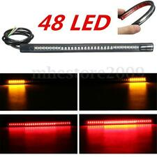Universal Flexible Motorcycle 48LED Light Strip Rear Tail Brake Stop Turn Signal