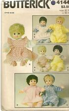 """Butterick Sewing Pattern 4144 Baby Doll Vintage 16"""" Bunting Pinafore Pants Uncut"""