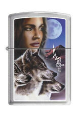 Zippo 1934 mazzi wolves night watch RARE & DISCONTINUED Lighter