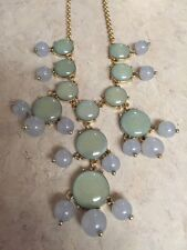Blue And Gold Bubble Statement Adjustable Necklace