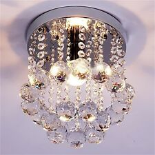 Crystal Droplets Silver Chrome Ceiling Pendant Light Chandelier Fitting Lamp JL