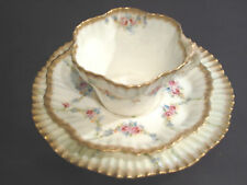 ANTIQUE NAUTILUS PORCELAIN TEA TRIO