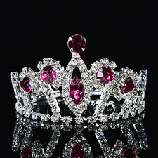 Dazzling Rhinestone Flower Girl Tiara Kids Princess Crown Girls Hair Accessories