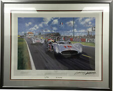 Nicholas Watts Summer of 54 Signed Fangio Limited Edition Print 31x35