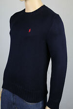 Polo Ralph Lauren Small S Navy Blue Crewneck Sweater Red Pony NWT