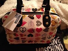 "Ladies  ""Love Moschino"" Designer Grab Bag Purse Multicolour Hearts £129 New"