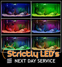 Cambia Colore LED Acquario Fish Tank Lighting striscia luci resistente all' acqua 50 cm