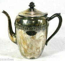 "1883 F.B.Rogers # 2307 Silverplate Tea Pot - 8"" Tall - VINTAGE Silver on Copper"