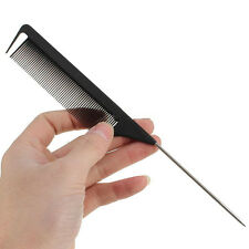 New Fine-tooth Metal Pin Hairdressing Hair Style Rat Tail Comb Black Tool
