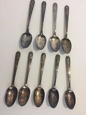 """Set of 9 President Commemorative Spoons 6"""" tall"""