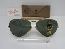 New Vintage B&L Ray Ban Outdoorsman II Gold G-15 62mm L2112 Aviator USA NOS