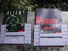 vintage super nintendo alien 3 super scope 6 and mario paint and 2 booklets