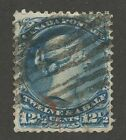 Canada 1868 Large Queen 12 1/2c missing frameline #28ii grid cancel