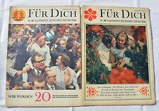2 Ausgaben von FÜR DICH 1968 Nr. 28 und Nr. 42 (Bau Fernsehturm Ost-Berlin u.a.)