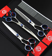 7inch Left-handed Pro.PET Grooming scissors Cutting&Curved&Thinning shears H280