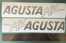 Stickers / Decals for MV Agusta F4 Side Fairings (MV logo Outlined) (Any Colour)