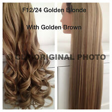 """Hair Extensions, CLIP IN, One piece. Straight, Curly, Like REAL HAIR, 24""""."""