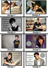 Personalised Justin Bieber Scratch Cards - Set of 8 - Fun Party Game, Lucky Door