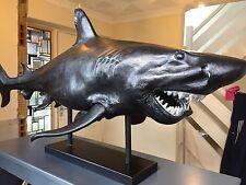 Boconcept Huge Black/silver Modern Shark Sculpture Great White
