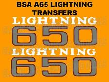 BSA A65 LIGHTNING 1969 TO 1971 SIDE PANEL TRANSFERS DECALS SOLD AS A PAIR