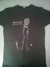 Philip Philips 2012 American Idol Tour Gray Jr. Large Cap Sleeves T-Shirt