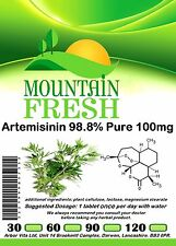Artemisinin 98% Pure Tablets 120 x 100mg FREE UK Postage