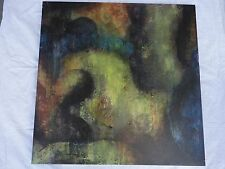 David Gilmore Original Oil/ mixed media abtract painting. Signed on back.
