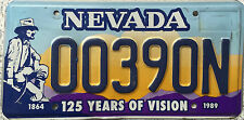 FREE UK POSTAGE Nevada 125 Years of Vision Miner USA License Number Plate 00390N