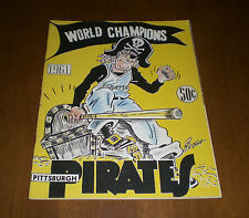 1961 PITTSBURGH PIRATES OFFICIAL YEARBOOK