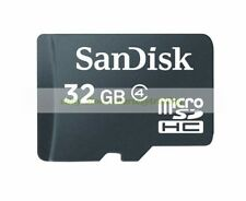 SanDisk Micro SD HC 32GB 32G Class 4 C4 Flash Memory Card New Lifetime Warranty