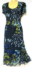plus sz XXS /12 VIRTU by TS TAKING SHAPE Castaway Dress crush swing easywear NWT
