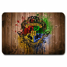 NEW Hogwarts Logo Harry Potter Non Slip Machine Washable Door Mat Rugs Large