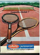 Publicité Advertising 1980 Les magasins de sport La Hutte Intersport