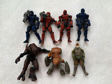 "Lots of 7pcs Halo 1-2"" Action Figures Grunt Storm Zealot By Jada Loose"