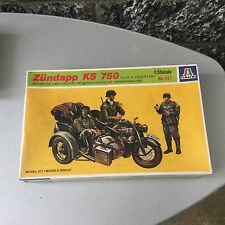VINTAGE# ITALERI 317#ZUNDAPP KS 150 Sidecar MOTORCYCLE KIT# FACTORY SEALED