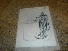 ORIGINAL DATED 2/1/94 ART SKETCH XMEN MAGNETO FIGURE & COPY CUP TOY BURGER KING